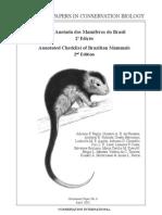 lista anotada de mamíferos do brasil