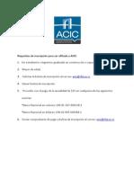 Requisitos Para Ser Afiliado a ACIC