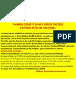 ANMMS EXPONE A MEDICOS CONTRATADOS EN PARO DEL 20/5/2012