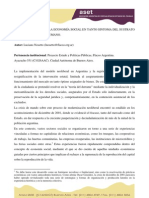 LA VIGENCIA DE LA ECONOMÍA SOCIAL EN TANTO SINTOMA DEL SUSTRATO