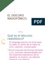 EL DISCURO RADIOFÓNICO