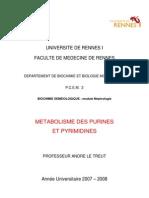 Metabolisme Des Purines Et Des Pyrimidines 2007 2008