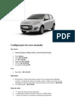 Configurações do carro montado 1.4