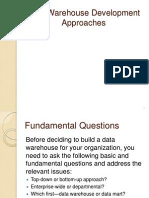 Data Warehouse Development Approach   Data Warehouse   Top