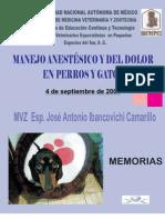 Manejo Del Dolor en Perros y Gatos, IBANCOVICHI