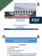 Y_Bhusal Nepal SDGs ADB Presentation