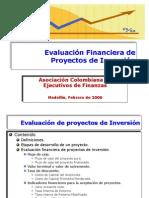 Evaluación Financiera de Proyectos de Inversión ACEF
