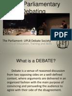 Basic Parliamentary Debating