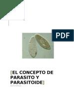 El Concepto de Parasito y Parasitoide