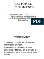PROGRAMA DE ENTRENAMIENTO