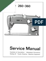Pfaff 260 360 Service p1