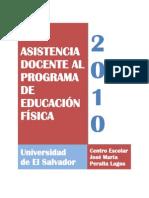 ASISTENCIA DOCENTE AL PROGRAMA DE EDUCACIÓN FÍSICA