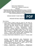 PP 31_TAHUN_2011_Pencabutan PPh Final Derivatif Tax Update 2012