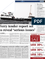 Rathlin Ferry stories in the News Letter on December 10