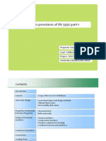 Design provisions of BS 5950 part‐1