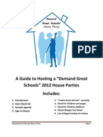 A Guide to Conducting Demand Great Schools 2012 House Parties