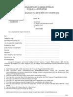 Form Beasiswa Paser 2012