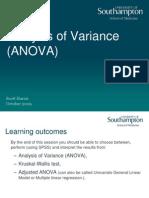 17 Analysis of Variance Presentation 2009