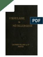 Formulaire du métallurgiste