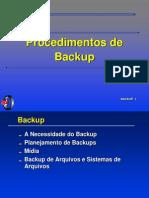 Procedimentos de Backup