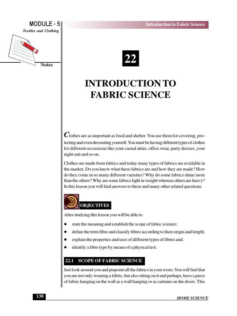 321-e-lesson-22 | Textiles | Fibers