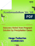 Recovery Nickel From Pregnant Solution by Precipitation Gases Hfm