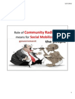 Role of Community Radio as a means of Social Mobilization