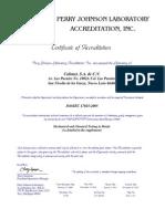 Calimet Certificado Acreditacion 2010-2015 Actualizado 2012