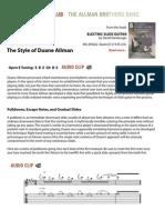- Slide Guitar Method of Duane Allman - Fender Players Club