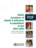 Vitamin a Deficiency in Populations at Risk