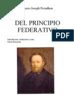 Del Principio Federativo-Proudhon-Trad P Bonacchi