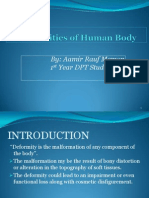 Deformities of Human Body Pps