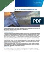 TNF 262 en Norme Cod Fiscal 2012