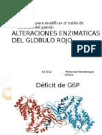 Alteraciones Enzimaticas Del Globulo Rojo