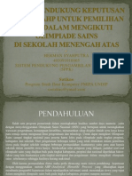 Sistem Pendukung Keputusan Metode Ahp Untuk Pemilihan Siswa