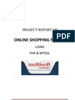 Project Report of Shopping Portal