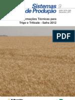 Informacoes Tecnicas Trigo Triticale Safra 2012