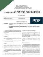 Proposición de Ley de Modificación de la Ley de Amnistía.