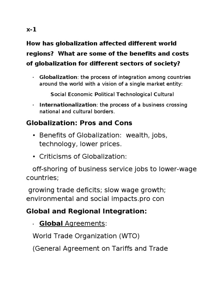 cultural globalization pros and cons
