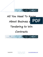 All You Need to Know About Business and Tendering to Win Contracts