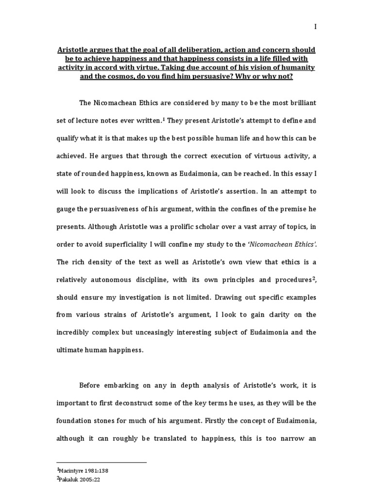 Population Essay In English  Examples Of A Thesis Statement In An Essay also High School English Essay Topics Aristotle Essay  Virtue  Aristotle Custom Term Papers And Essays