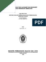 Analisis Lokasi Alfamart Dan Indomaret_Tugas Matakuliah MPWK Undip