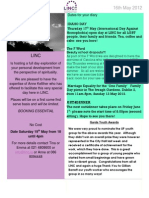Newsletter 16th May 2012