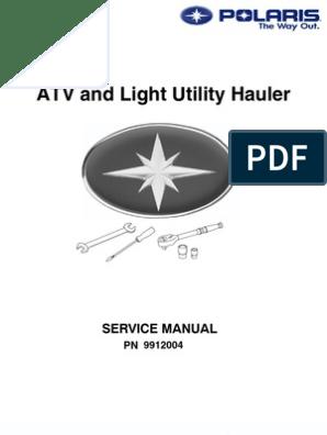 Polaris Atv Service Manual Repair 1985 1995 All Models