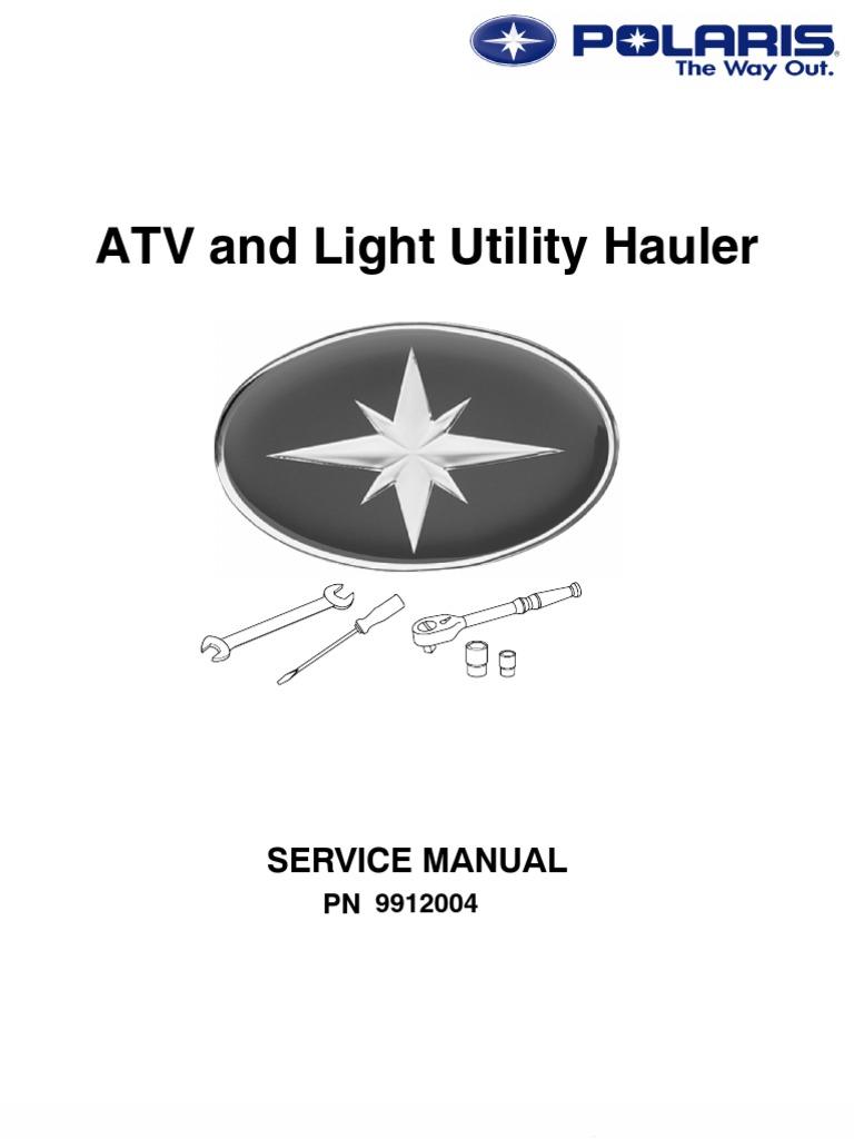 Polaris Atv Service Manual Repair 1985 1995 All Models Sportsman Xplorer 500 Starting System Wiring And Circuit Transmission Mechanics Suspension Vehicle