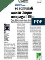 Romeo Gestioni - Dismissioni Affittuari Morosi