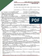 LTĐH - 2012 - Chuyên đề 01 -  Đại Cương Về Hóa Học Hữu Cơ