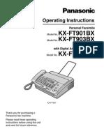 Panasonic Kx Ft907
