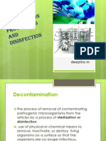 Sterlization Procedures and Disinfection