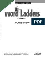 PDF Word Ladders 1-2 Grade